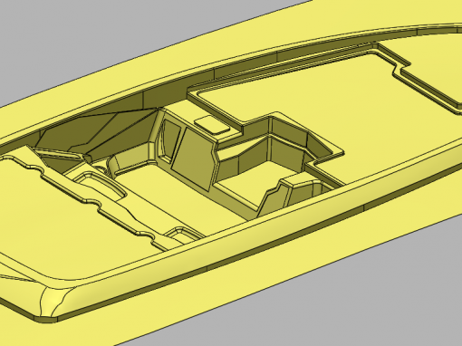 3D Modeling of a Boat Hull and Deck