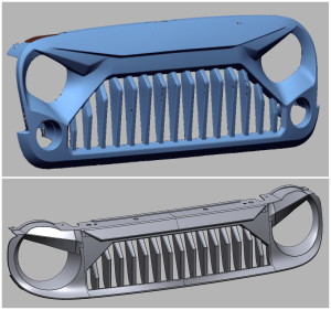 3D Scanning and Modeling Jeep Wrangler Front Grills